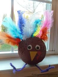 dabblingmomma styrofoam turkey craft