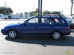 hyundai elantra wagon 2000 cobalt blue pearl hyundai elantra gls wagon 59243321 photo