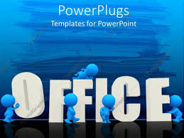 office powerpoint template top view of office supplies on table