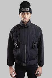 Boys Leather Bomber Jacket Boy Parachute Jacket Black