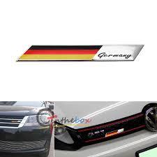 German Flag 1940 Aluminum Plate Germany Flag Emblem Badge For Car Front Grille Side