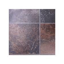 Kitchen Flooring Lowes by Shop Tarkett Berkshire 12 Ft W X Cut To Length Rust Tile Low Gloss