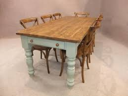 Ft Reclaimed Pine Farmhouse Kitchen Table With A Painted Base - Old pine kitchen table