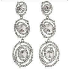 jim earrings jim earrings pv191 clear silver swarovski