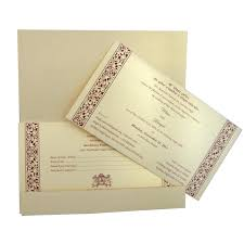 indian wedding cards online beautiful indian wedding card with self texture printing and