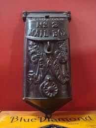 Rustic Iron Mail Slot Outdoor - vintage 1930 u0027s 1940 u0027s wall mount us mail metal mailbox postal mail