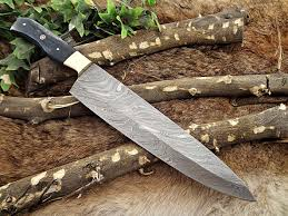 forged kitchen knives damascus steel kitchen knife 14 inches tang 9