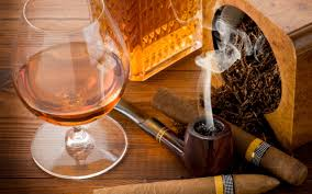 cigar table wallpaper pipe cigar glass cognac table tobacco hd picture
