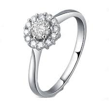 circle engagement ring with halo engagement ring eternity jewelry