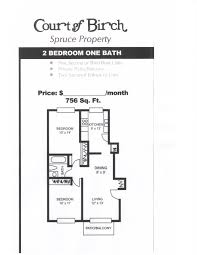 Two Bedroom Floor Plans One Bath 2 Bedroom One Bathroom Floor Plan Pace Realty Group Inc