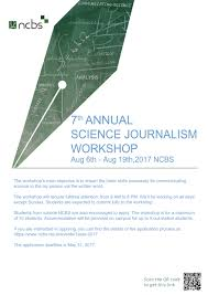 writing papers in biological sciences 7th annual science journalism workshop ncbs literary science writing award for poster click here
