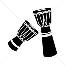 free silhouette images free silhouette of djembe vector image 1462766 stockunlimited