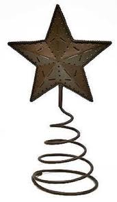 Rustic Metal Christmas Decorations by Rusty Barn Star Tree Topper Star Tree Topper Tree Toppers And Star