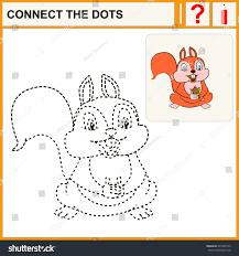connect dots preschool exercise task kids stock vector 327342155