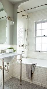bathroom traditional bathroom with blue brown bath rug decor