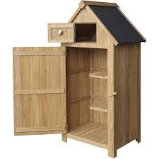 cabane jardin cabane de jardin étroite en bois de sapin avec toit tar