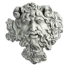 amazon com design toscano bacchus god of wine greenman wall