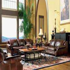 Coaster Leather Sofa Coaster Princeton 3 Leather Sofa Living Room Set In Brown