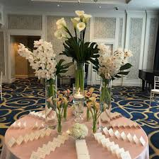 Hotel Flower Decoration Romantic Fall Wedding Flowers At The Boston Harbor Hotel Jeri