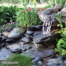 Small Water Features For Patio How To Build A Low Maintenance Water Feature Family Handyman