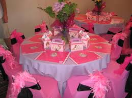 gorgeous pink birthday table decoration table