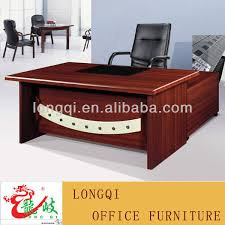 l shape modern design with leather table top wooden mdf manager Office Table L