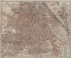 map of vienna vienna wien vintage town city plan stadtplan austria sterreich