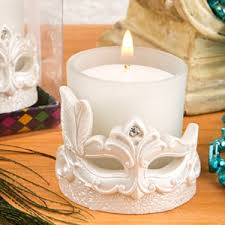 wedding candle favors mardi gras mask candle votive party favors