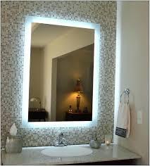 Lit Bathroom Mirror Backlit Bathroom Mirror Diy Bathroom Mirrors