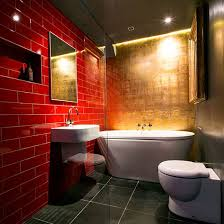 Black And Red Bathroom Ideas Colors Dramatic Red And Gold Bathroom Modern Bathroom Design Ideas Gold