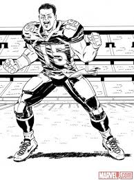 marvel espn u0027s tim tebow comic sketches photo
