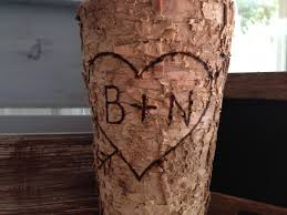 Birch Bark Vases Birch Vase Rustic Vase Personalize Vase Custom Monogram Vase Bark