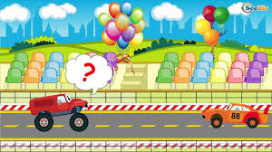 monster trucks races cartoon cars car cartoons for kids monster truck racing cars crazy race
