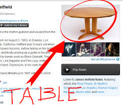 James Hetfield Meme - i am the table know your meme
