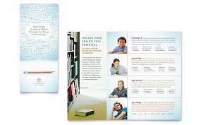 tri fold school brochure template academic tutor school tri fold brochure template word publisher
