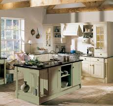 Rustic Cottage Kitchens - rustic cottage kitchen white painted wooden kitchen cabinets white