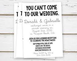 elopement invitations elopement reception invitation etsy