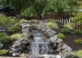 Waterfall Backyard Pondless Waterfalls Whitehouse Landscaping