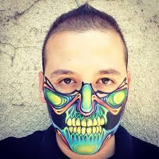 half skull mask halloween psychedelic skull mask by ronniemena deviantart com on deviantart