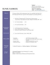 the best format for a resume excellent resume sample format best