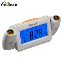 light projection alarm clock new arrival sound control led dual projection light snooze