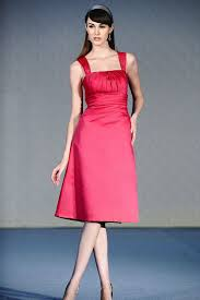 knee length bridesmaid dresses square fuchsia satin tea length bridesmaid dresses 100