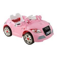 audi tt electric ride on 6v electric audi tt roadster pink car with parental remote
