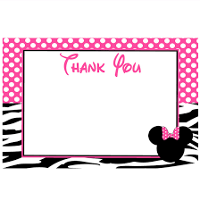 minnie mouse thank you cards minnie zebra thank you card