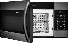 frigidaire glass door fridge frigidaire fgmv155ctd 1 5 cu ft over the range microwave oven