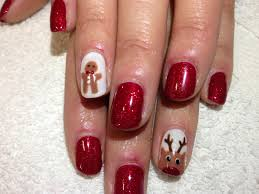 picture 8 of 10 shellac christmas nail art designs ideas photo