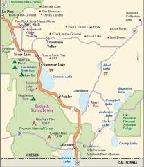 map of highway 395 oregon of highway 395 oregon