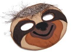 Sloth Animal Halloween Costume Sloth Mask Animal Mask Animal Felt Mask Animal Birthday