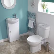 white sienna cloakroom bathroom suite vanity unit basin sink