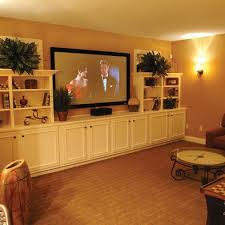 Finished Basement Storage Ideas Lots Of Storage For Basement Media Room Man Cave Media Room